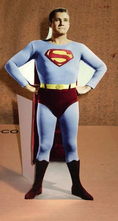 "Superman George Reeves Color Figure Tabletop Display Standee 10 1/2"" Tall #Superman Original Superman, Batman And Superman, Spiderman, Superman Action Figure, Action Figures, George Reeves, Hero Tv, Adventures Of Superman, Comic Books Art"