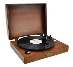Classic Retro USB Phonograph/Turntable Record Player PVNTT1T (Tan)