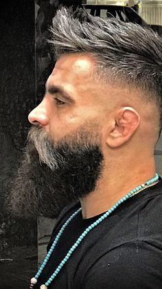 View the best mens hairstyles from Charlemagne Premium male. View the best mens hairstyles from Charlemagne Premium male grooming and beard styling. We love the sexy looks using pomades, cla. Long Beard Styles, Beard Styles For Men, Hair And Beard Styles, Hair Styles, Mens Hairstyles With Beard, Haircuts For Men, Black Hairstyles, Curly Hairstyles, Cheveux Ternes