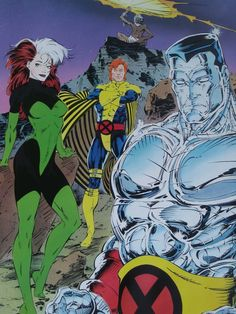 X-Men Colossus Rogue and Banshee by Jim Lee