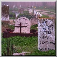 Image Detail for - ... Makeshift headstones in Holt Cemetery in fog. New Orleans, Louisiana