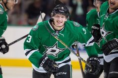 Player of the Day - John Klingberg. Today's random number is Last season Klingberg put up 8 goals and 59 assists for a 67 point season in 82 games played with the Dallas Stars. Leave a comment guessing tomorrow's random number! Stars Hockey, Hockey Teams, Tyler Seguin, Arizona Coyotes, National Hockey League, Nhl, Motorcycle Jacket, Dallas, Seasons