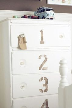 Cute touch to an old dresser