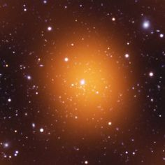 The Phoenix galaxy cluster forms over 700 stars per year and may be the most massive known!  CREDIT: UV: NASA/JPL-Caltech/M.McDonald; Optical: AURA/NOAO/CTIO/MIT/M.McDonald; Microwave: NSF/SPT