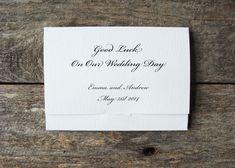 Bespoke Wedding Favour Scratch Card Holders