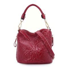 New 2015 hot sale women genuine leather handbags ladies bags cowhide floral  versatile lady shoulder hand totes bag b53e29d204d5f
