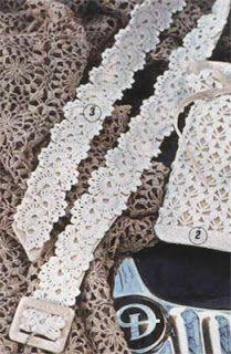 Letras e Artes da Lalá: Cinto e bolsa de crochê