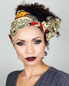 bandana hairstyle for curly hair krullen 60 Styles and Cuts for Naturally Curly Hair Shampoo For Curly Hair, Curly Hair Tips, Short Curly Hair, Curly Hair Styles, Natural Hair Styles, Updo Curly, Bandana Updo, Bandana Hairstyles, Hairstyles 2018