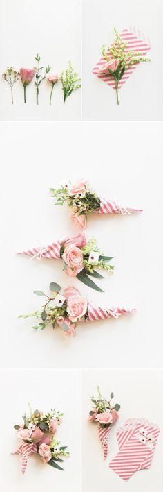 DIY Valentine's Day Mini Bouquets – Style Me Pretty