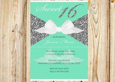 Tiffany's Sweet 16 Invitation by MemoryLanePaperie on Etsy