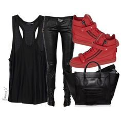 Alexander Wang tank, Balmain pants, Giuseppe Zanotti sneakers and Celine bag and sunglasses xx #Padgram
