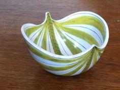 Stig Lindberg faience fajance striped bowl Gustavsberg midcentury modern retro | eBay