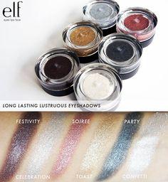 Elf long lasting lustrous eyeshadow Festivity, Celebration, Soirée, Toast, Party, Confetti