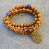 Carnelian and African turquoise 54 bead mala wrap bracelet or necklace – Lovepray jewelry