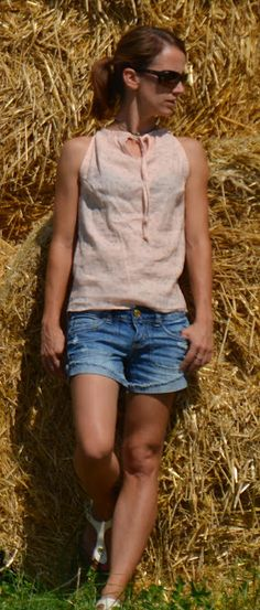 GagaYa: Bluse aus Leinen.