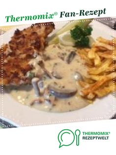 Hunter schnitzel in mushroom cream sauce from HotTomBBQ. A Thermomix ® recipe from the main course with meat category at www.de, the Thermomix ® Community. Hunter schnitzel in mushroom cream sauce Alexandra Grob - Langner groblangner The Hamburger Meat Recipes, Pork Recipes, Seafood Recipes, Mexican Food Recipes, Dinner Recipes, Healthy Eating Tips, Healthy Recipes, Mushroom Cream Sauces, Mushroom Recipes