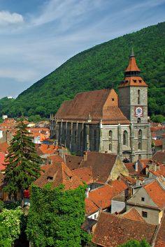 The Black Church, Biserica Neagra, the most impressive gothic monument in Braşov, Transylvania, Romania