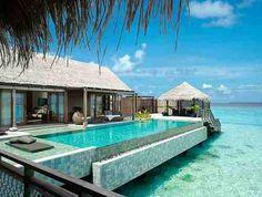 Yes please! Private villa with infinity pool: Shangri- la's Villingli Resort and Spa, Maldives Vacation Destinations, Dream Vacations, Vacation Spots, Honeymoon Vacations, Sunset Vacations, Honeymoon Spots, Dream Trips, Mini Vacation, Honeymoon Ideas