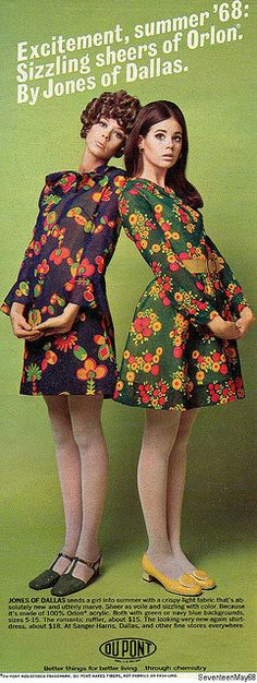 Seventeen magazine May 1968 models Terry Reno and Colleen Corby Colleen Corby, 60s And 70s Fashion, Mod Fashion, Trendy Fashion, Vintage Fashion, Dress Fashion, Fall Fashion, Gothic Fashion, Moda Retro