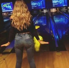 If you don't know, Perrie really loves bowling