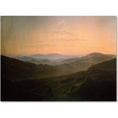Trademark Fine Art Dawn Canvas Art by Caspar David Friedrich, Size: 18 x 24, Multicolor