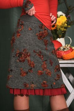 Wool skirt by basia-kollek