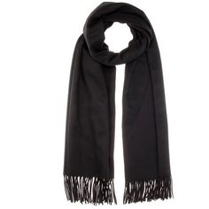Acne Studios Canada Wool Scarf ($170) ❤ liked on Polyvore featuring accessories, scarves, black, acne studios, woolen shawl, wool scarves, woolen scarves and wool shawl