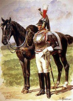 Oficer Cuirassiers. Mal. L. Rousselot.