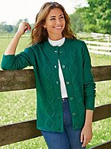 Button-Front Cable Cardigan | Orchard Brands