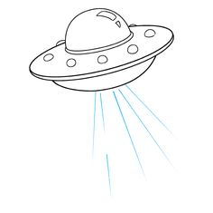 Learn to draw a ufo. This step-by-step tutorial makes it easy. Kids and beginners alike can now draw a great looking alien ufo. Alien Drawings, Trippy Drawings, Doodle Drawings, Easy Drawings, Doodle Art, Spaceship Drawing, Astronaut Drawing, Alien Spaceship, Easy Drawing Tutorial