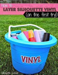 Silhouette Layering Vinyl Tutorial (The No-Fail Method) - Silhouette School
