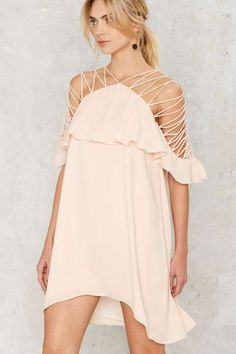 Stringing Your Praises Ruffle Dress - Back In Stock | Going Out | Off The Shoulder | All Party