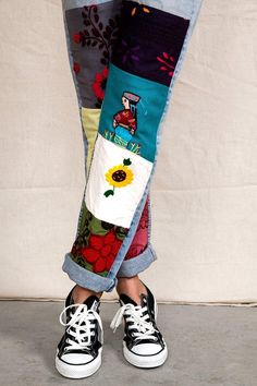 Vintage Patchwork Embroidered Jean