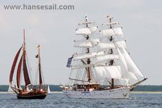 "Tall Ship ""Aphrodite"" at Hanse Sail Rostock"