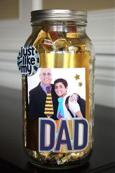 Father's Day Gift @Malia Martine Karlinsky #dad #masonjar #photo