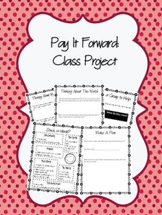 Pay It Forward class volunteer service project