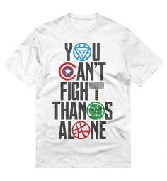 Marvel Ni/ños Avengers Endgame Thanos Brushed Camiseta