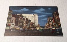 Vintage Postcard - Market Street Along The Dixie Highway - Chattanooga TN