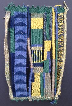 Joan Kendall weaving: Flu Weaving VI