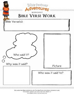 Bible Verse worksheet - Great way to learn Bible verse context | FREE download.
