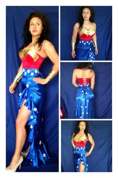 Wonder Woman Gown Costume Comic Con Halloween