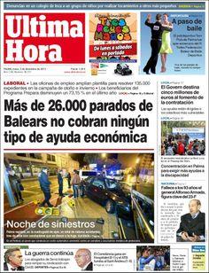 Los Titulares y Portadas de Noticias Destacadas Españolas del 2 de Diciembre de 2013 del Diario Ultima Hora ¿Que le pareció esta Portada de este Diario Español?