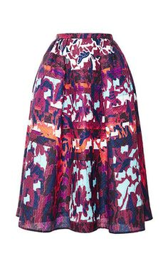 Emma Printed Cloqué A-Line Skirt by Peter Pilotto Now Available on Moda Operandi