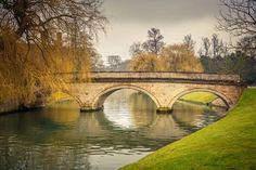Photographic Print: Bridge over Cam River, Cambridge University by sborisov : 24x16in