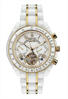 New White & Gold Ceramic Watch