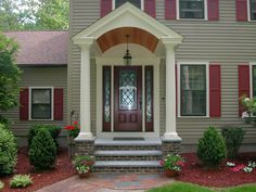 front-porch-amazing-decorating-ideas-using-cylinder-white-pillars-and-grey-wooden-siding-panels-also-with-rectangular-red-wooden-window-shutters-enchanting-designs-of-front-porch-awnings.jpg (1280×960)