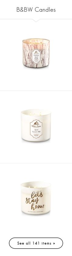 """""""B&BW Candles"""" by gfcaccount ❤ liked on Polyvore featuring home, home decor, candles & candleholders, cinnamon vanilla candle, cinnamon candles, vanilla candles, vanilla bean candle, three wick candles, 3 wick scented candles and scented candles"""