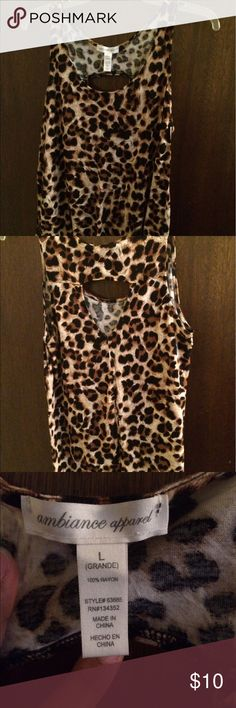 Ladies Top Leopard Print Ambiance Apparel Tops Tank Tops