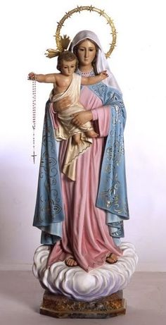 NUESTRA SEÑORA DEL ROSARIO I Love My Mother, Blessed Mother Mary, Blessed Virgin Mary, Mother And Child, Holy Rosary, Lady Mary, Religious Images, Holy Family, Christian Art