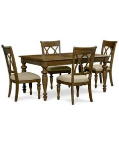 Oak harbor 7 pc dining set table 6 side chairs 40x62 for Furniture oak harbor